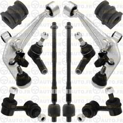 Kit Bras de Suspension Alu + Rotules Direction + Biellettes 6 Pièces